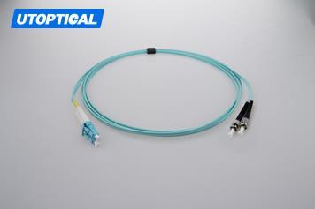 10m (33ft) LC UPC to ST UPC Duplex 2.0mm PVC(OFNR) OM3 Multimode Fiber Optic Patch Cable