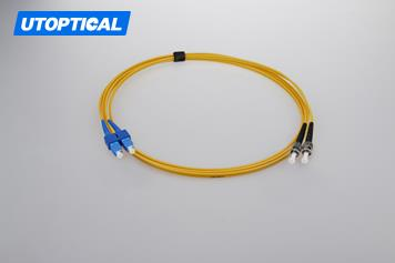 3m (10ft) SC UPC to ST UPC Duplex 2.0mm PVC(OFNR) 9/125 Single Mode Fiber Patch Cable