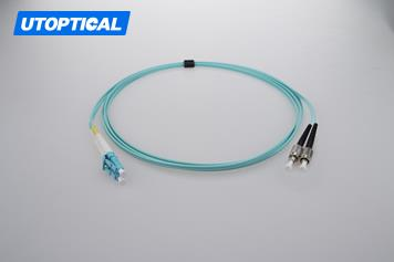 3m (10ft) LC UPC to FC UPC Duplex 2.0mm PVC(OFNR) OM4 Multimode Fiber Optic Patch Cable