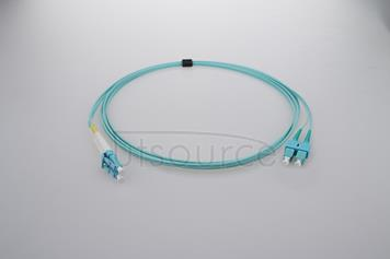 3m (10ft) LC UPC to SC UPC Simplex 2.0mm PVC(OFNR) OM3 Multimode Fiber Optic Patch Cable