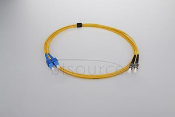 2m (7ft) SC UPC to ST UPC Duplex 2.0mm PVC(OFNR) 9/125 Single Mode Fiber Patch Cable