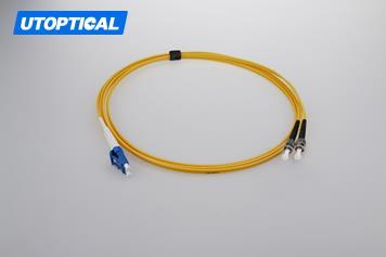 2m (7ft) LC UPC to ST UPC Duplex 2.0mm PVC(OFNR) 9/125 Single Mode Fiber Patch Cable
