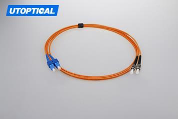 1m (3ft) SC UPC to ST UPC Duplex 2.0mm PVC(OFNR) OM1 Multimode Fiber Optic Patch Cable
