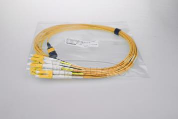 3m (10ft) MTP Female to 6 LC UPC Duplex 12 Fibers OS2 9/125 Single Mode HD BIF Breakout Cable, Type A, LSZH, Yellow