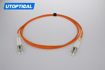 10m (33ft) LC UPC to LC UPC Duplex 2.0mm PVC(OFNR) OM1 Multimode Fiber Optic Patch Cable