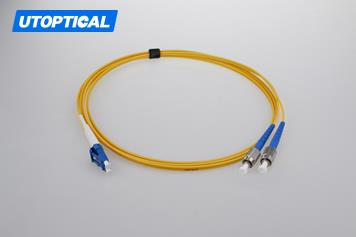 1m (3ft) LC UPC to FC UPC Simplex 2.0mm PVC(OFNR) 9/125 Single Mode Fiber Patch Cable