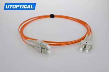 2m (7ft) SC UPC to SC UPC Simplex 2.0mm PVC(OFNR) OM1 Multimode Fiber Optic Patch Cable