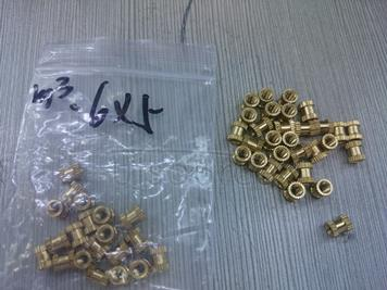 Injection molding copper nut copper inserts embedded parts copper knurl nut copper flower mother M3 (6 * 5) 30 PCS