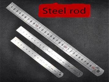 15 cm 20 cm30cm stainless steel straightedge measuring tool Upset ' A metal ruler Straight board feet (3 PCS)