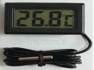 Electronic thermometer strap waterproof bath water temperature refrigerator at room temperature sensor digital display temperature probe (black)