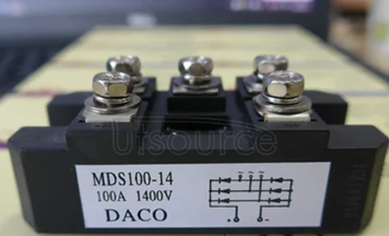 Three-phase rectifier bridge pile MDS100-14