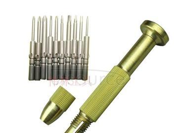 Hand twist combination copper screwdriver head copper product refined copper products 800 copper rod (10 times)