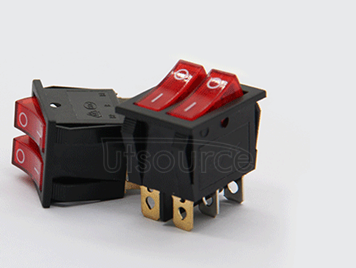 Double ship type switch with red light band 2 6 feet 6 feet power button switch