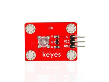 keyes DIP Straw Hat Green LED Light Module (with soldering pad-hole)