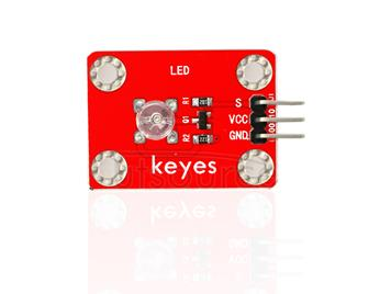 keyes DIP Straw Hat Red LED Light Module (with soldering pad-hole)