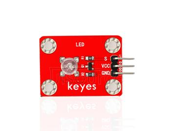 keyes DIP Straw Hat White LED Light Module (with soldering pad-hole)