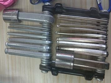 Allen wrench set combination gadget folding metric system flat pattern sets