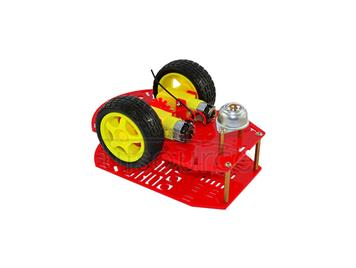 New Arduino red porous two-wheel car body