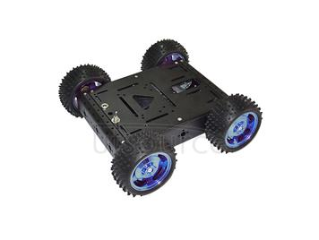 4WD smart car chassis/ 15KG load-bearing(black color) /aluminum alloy car-body/ off-road driving robot