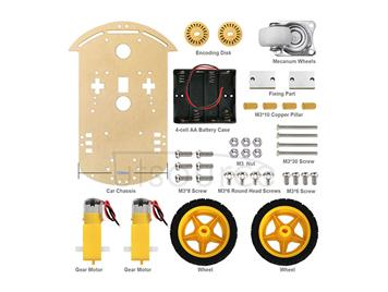 Arduino smart car chassis/tracing car/encoder included/speed measurement/free battery case