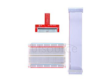 Raspberry Pi GPIO Expansion DIY kit(connection line+quality 400 hole breadboard+GPIO Pinboard)