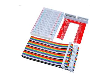 Raspberry Pi 3 GPIO DIY Expansion kit(40P rainbow line+GPIO V2+400 hole breadboard)