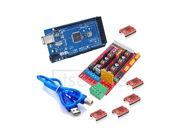 1pcs Mega 2560 R3 + 1pcs RAMPS 1.4 Controller + 5pcs A4988 Stepper Driver Module for 3D Printer kit Reprap MendelPrusa