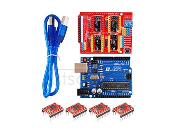 3D kit(3DV3++Funduino-UNO R3+three pieces of 4988+30cm transparent blue USB line)