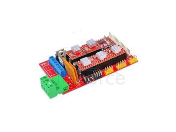 3D printer control panel kit RAMPS 1.4+4988 driver containing a radiator