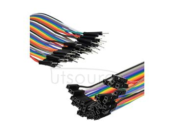 40pcs 20cm 1p-1p male to Female jumper wire Dupont cable for Arduino Breadboard