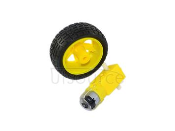 TT motor/130 motor+quality rubber wheel