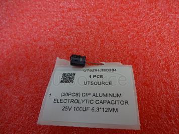 (20pcs) DIP Aluminum Electrolytic Capacitor 25V 100uF 6.3*12mm