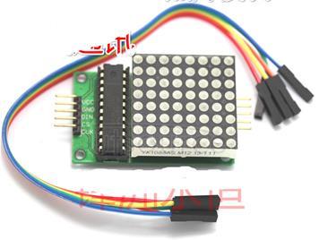 Display module MAX7219 dot matrix module control module SCM module feed line.