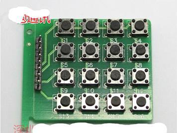 Keyboard module 4X4 matrix keyboard 16 keys MCU learning board development board expand keyboard 4