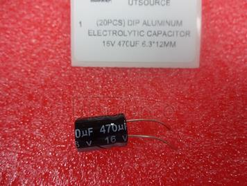(20pcs) DIP Aluminum Electrolytic Capacitor 16V 470uF 6.3*12mm
