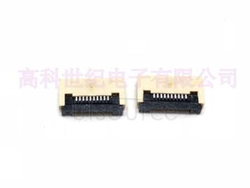 FPC connector 0.5MM 10P flip down 0.5mm 10p connector.