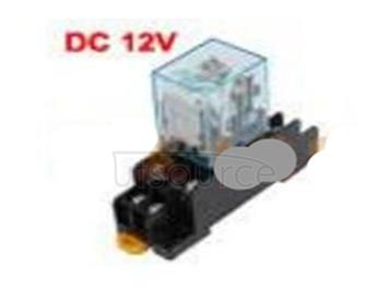 Intermediate relay 12 v relay with small lamp contains 2 on 2 off base 8 feet 5 a