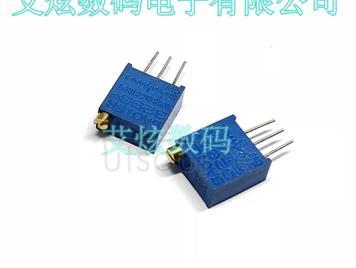 3296W-1-502 top adjustable multi ring precision adjustable resistor / potentiometer glass glaze potentiometer