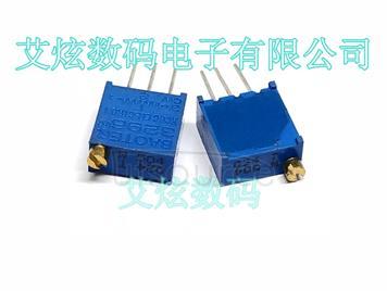 3296W-1-504 top adjustable multi ring precision adjustable resistor / potentiometer glass glaze potentiometer