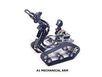 Raspberry Pi 3B+ TH Wireless Robot with Manipulator (A1 Arm)
