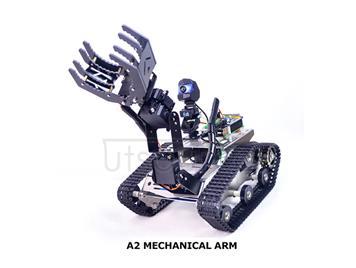 Raspberry Pi 3B+ TH Wireless Robot with Manipulator (A2 Arm)