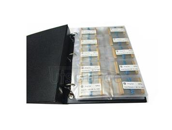 1/6W 1R to 1M 1% Metal Film Resistor Package, Sample Book, 127 kinds each 50pcs Total 6350pcs