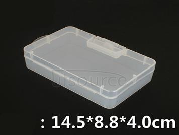 Part box PP box rectangular clear small plastic empty box accessories box product packaging box with a lid medicine box
