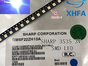 SHARP LED TV Application LCD Backlight for TV LED Backlight 1W 3V 3535 3537 Cool white GM5F22ZH10A