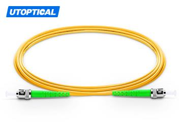 30m (98ft) ST APC to ST APC Simplex 2.0mm PVC(OFNR) 9/125 Single Mode Fiber Patch Cable