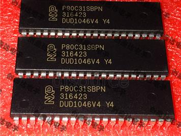 P80C31SBPN ROM-free low voltage, low power, high speed, 33 megahertz integrated circuit, single chip memory IC