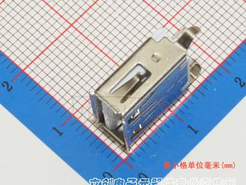 Jing Extension of the Electronic Co. AF 13.7 180degree Bend foot Have side iron PBT White plastic Not high temperature(10pcs)