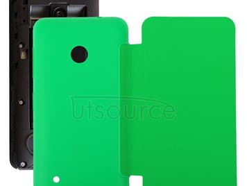 Horizontal Flip Solid Color Battery Back Cover Case for Nokia Lumia 530 / N530(Green)