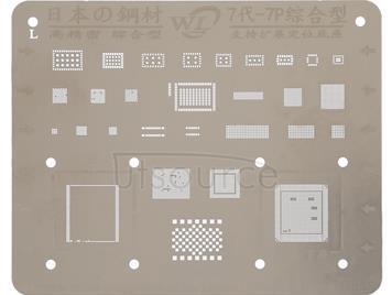 Mobile Phone Rework Repair BGA Reballing Stencils for iPhone 7 / 7 Plus