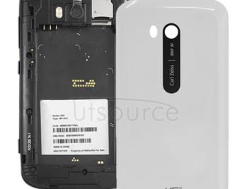 Smooth Surface Plastic Back Housing Cover for Nokia Lumia 822(White)